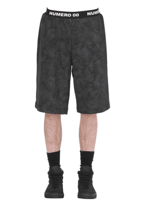 Marble Effect Cotton Shorts