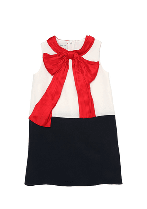 Silk Crepe De Chine Dress With Bow