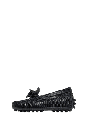 Gommino Embossed Leather Loafers