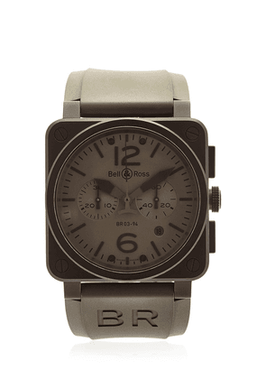 Br 03-94 Chrono Pvd Steel Watch