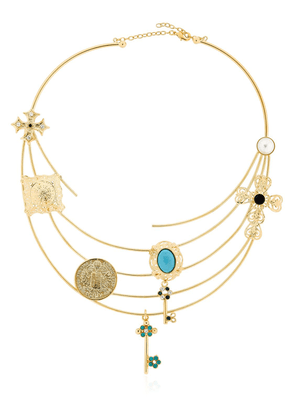 Rigid Necklace With Charms