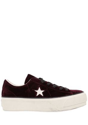 One Star Platform Suede Sneakers
