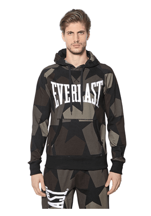 Printed Hooded Cotton Sweatshirt