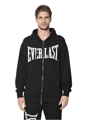 Zip Up Hooded Cotton Sweatshirt