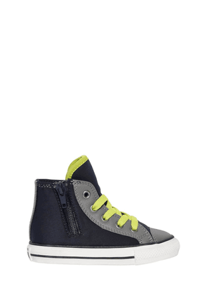 Neoprene & Leather High Top Sneakers