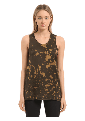 Bleached Washed Satin Tank Top