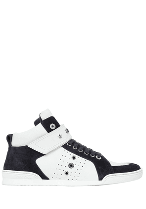 Lewis High Top Leather & Suede Sneakers
