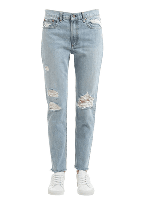 Marilyn Distressed Cotton Denim Jeans