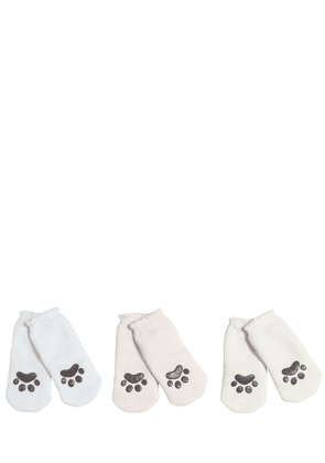 Set Of 3 Anti-slip Cat Paw Cotton Socks