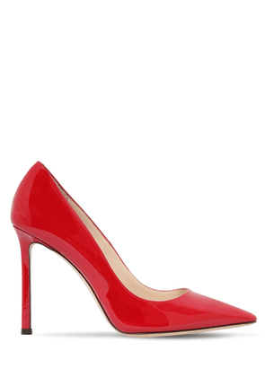 100mm Romy Patent Leather Pumps