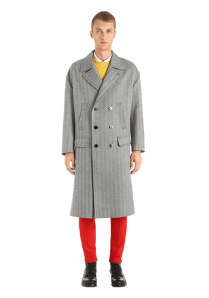 Oversized Double Breasted Wool Coat
