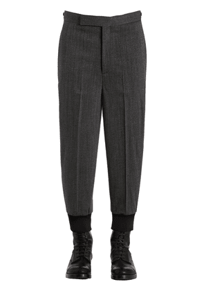 Wool Twill Jogging Style Pants