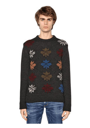 Maple Leaf Wool Blend Sweater