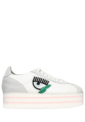 50mm Faux Suede & Nylon Sneakers