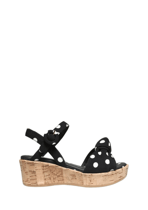 Dots Printed Crepe Cady Wedges