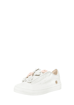 Nappa Leather Sneakers W/ Suede Flowers