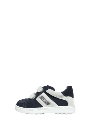 Two Tone Strap Suede Sneakers