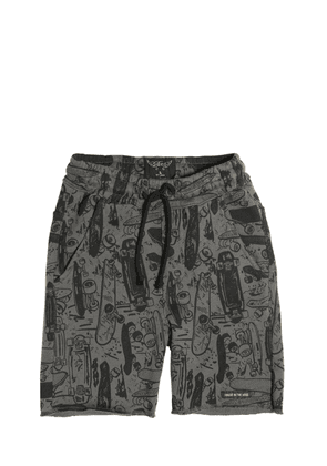 Skateboards Printed Cotton Shorts
