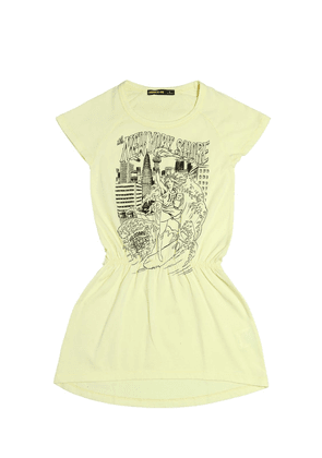 New York Printed Cotton Jersey Dress