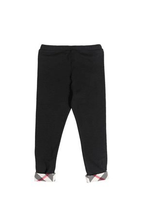 Cotton Jersey Legging With Check Cuffs