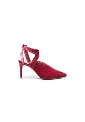 Alexandre Birman Velvet & Suede Sally Ankle Tie Pumps in Pink