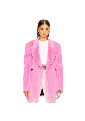 MSGM Double Breasted Blazer in Pink