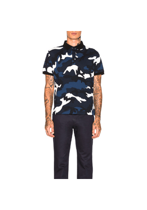Valentino Polo in Abstract,Black,Blue
