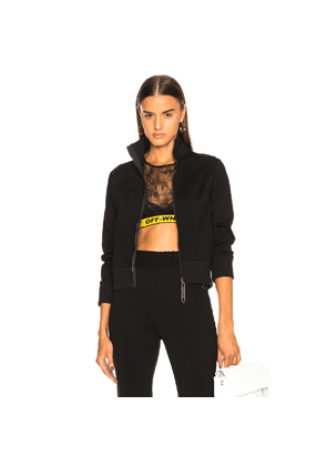 OFF-WHITE Silhouette Track Jacket in Black
