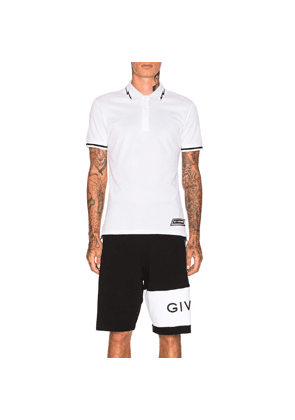 Givenchy Lightning Bolt Polo in White