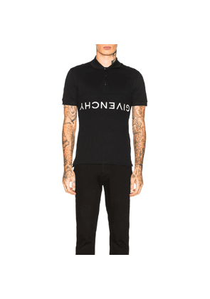 Givenchy Upside Down Logo Polo in Black