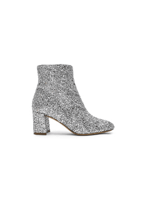 Mansur Gavriel Glitter Ankle Boot in Metallic