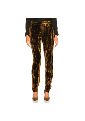 Saint Laurent Velvet Trousers in Metallics