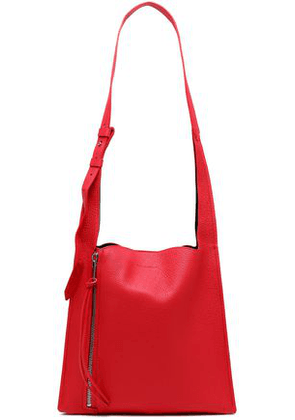 Elena Ghisellini Woman Textured-leather Shoulder Bag Red Size -