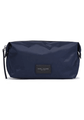Marc Jacobs Woman Leather-trimmed Woven Cosmetics Case Midnight Blue Size -