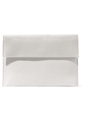 Marni Woman Textured-leather Clutch Off-white Size -