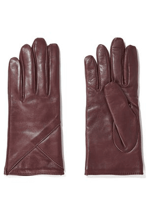 Iris & Ink Woman Carrie Leather Gloves Claret Size L