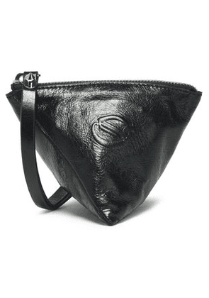 Mcq Alexander Mcqueen Woman Embossed Cracked-leather Coin Purse Black Size -