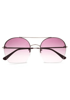 Tom Ford Woman Square-frame Gold-tone And Acetate Sunglasses Gold Size -