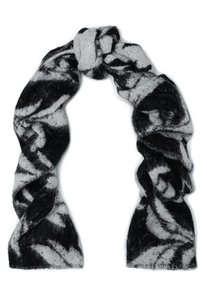 Mcq Alexander Mcqueen Woman Brushed Jacquard-gauze Scarf Black Size -