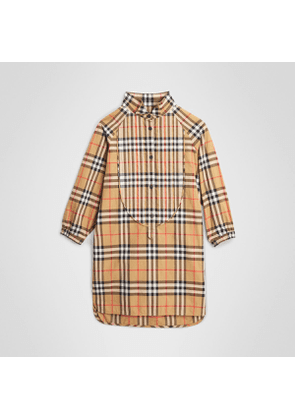 Burberry Childrens Vintage Check Cotton Shirt Dress, Size: 6Y, Yellow