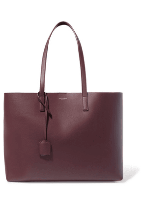 Saint Laurent - Shopper Large Textured-leather Tote - Burgundy