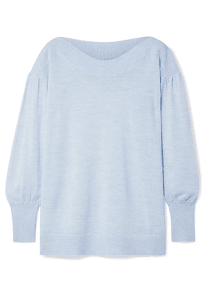HATCH - Caly Merino Wool Sweater - Sky blue