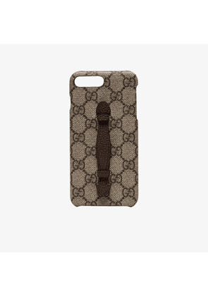 Gucci beige neo GG print iPhone 8 plus case