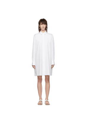 Jil Sander Navy White Minimal Dress