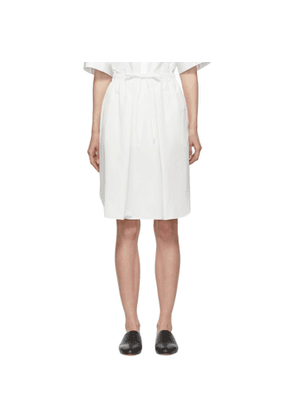 Jil Sander Navy White String Skirt