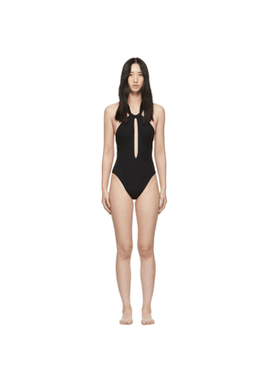 Saint Laurent Black Twist One-Piece Swimsuit