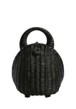 Millie Rattan Top Handle Bag