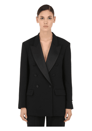Double Breasted Crepe Jacket