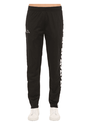 Track Pants W/ Logo Printed Side Bands