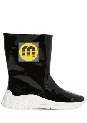 10mm Faux Patent Leather Rain Boots